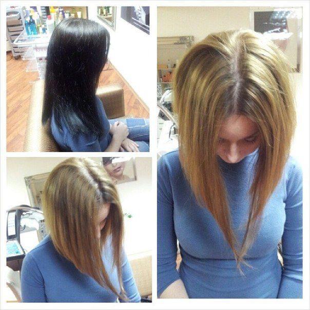 Что такое декапирование волос фото до и после